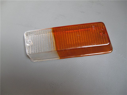 Picture of glass front light indicator 1300, orange/white, left