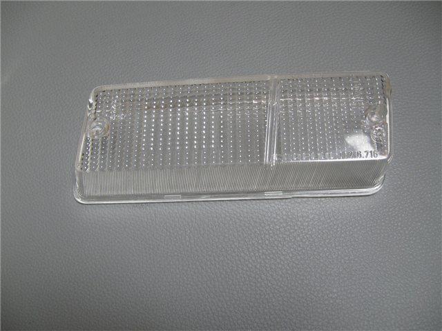 Afbeeldingen van glas knipperlicht 1300, voorzijde rechts, wit