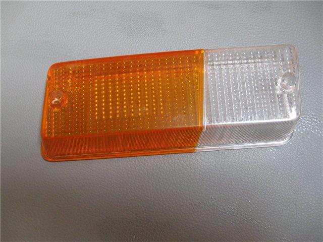 Afbeeldingen van glas knipperlicht 1300, voorzijde rechts, oranje/wit