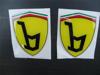Afbeeldingen van Ferrari style Bertone badge