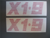 Afbeeldingen van stickers rollbar, horizontaal, rood