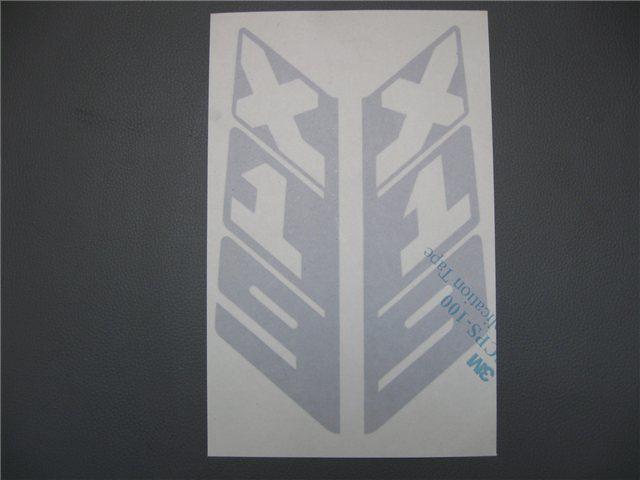 Afbeeldingen van stickers rollbar, vertikaal, zilver