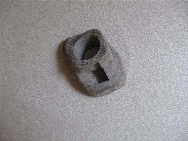 Afbeeldingen van rubber t.b.v. buis bumpersteun 1500, voorzijde, rechts