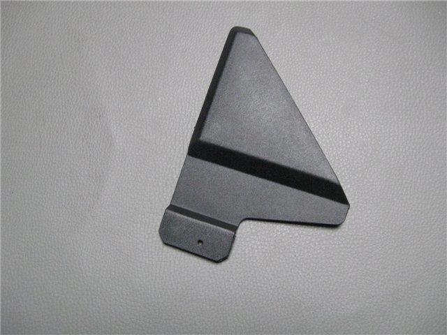 Afbeeldingen van kunststof driehoek bij buitenspiegel, rechts