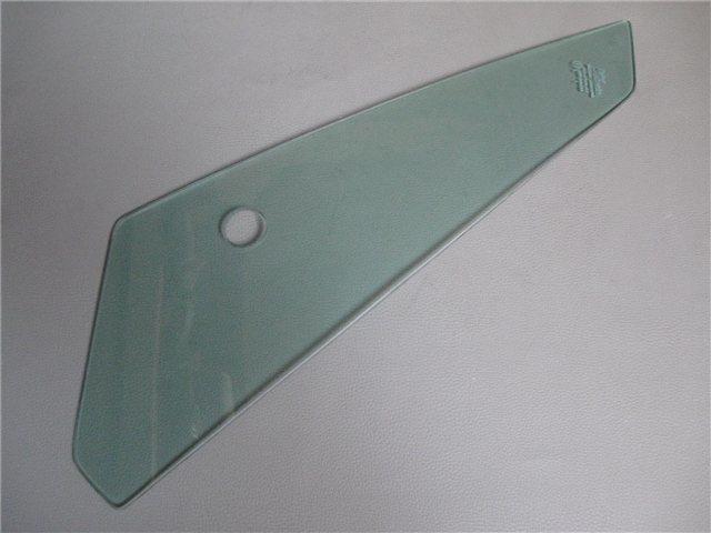 Afbeeldingen van driehoeksruitje met gat voor spiegel, getint, rechts