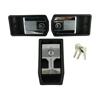 Afbeeldingen van set portieropeners links + rechts + handels bagage/motordeksel CHROOM