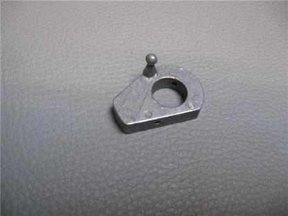 Afbeeldingen van aluminium plaatje (nottolino) achterzijde portieropener, rechts