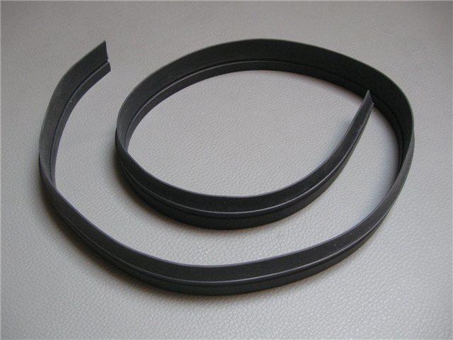 Afbeeldingen van rubber onder chroomlijst buitenzijde portier
