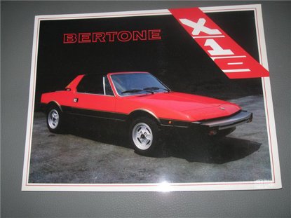 Afbeeldingen van Bertone X 1/9, vouwblad, 1983