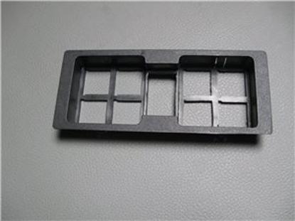 Afbeeldingen van frame t.b.v. schakelaars op console 1500 1984-1988
