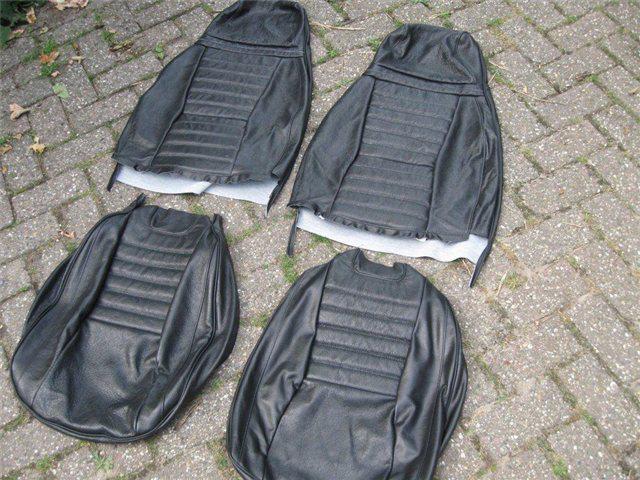 Afbeeldingen van set stoelbekleding 1300 1975-1979, leder, zwart