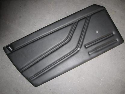 Afbeeldingen van set deurplaten 1300, zwart