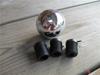 Afbeeldingen van pooknop 1300 en 1500 metaal rond CHROOM